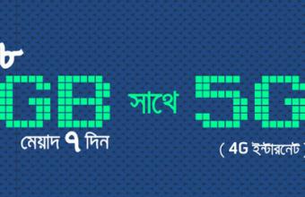 GP 10GB (5GB Regular + 5GB 4G) Offer Validity 7 Days!