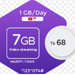 Robi 7GB Internet 68Tk (Video Streaming)-Offernibo
