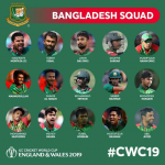 ICC Cricket World Cup 2019 Bangladesh Teams, Venue, Time-Table