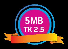 GP 5MB Data 2Tk With Validity 3 Days-Offernibo.com