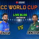 India vs Pakistan Match Live Score & TV Channel