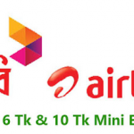 Airtel 10 Minute 6TK With Free 10 SMS