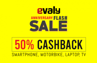 Evaly Anniversary Flash Sale – Evaly 50% Cashback Offer, Smartphone, Laptop & MotorBike!