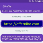 GP 1GB 29Tk Offer 2020-Offernibo.com!